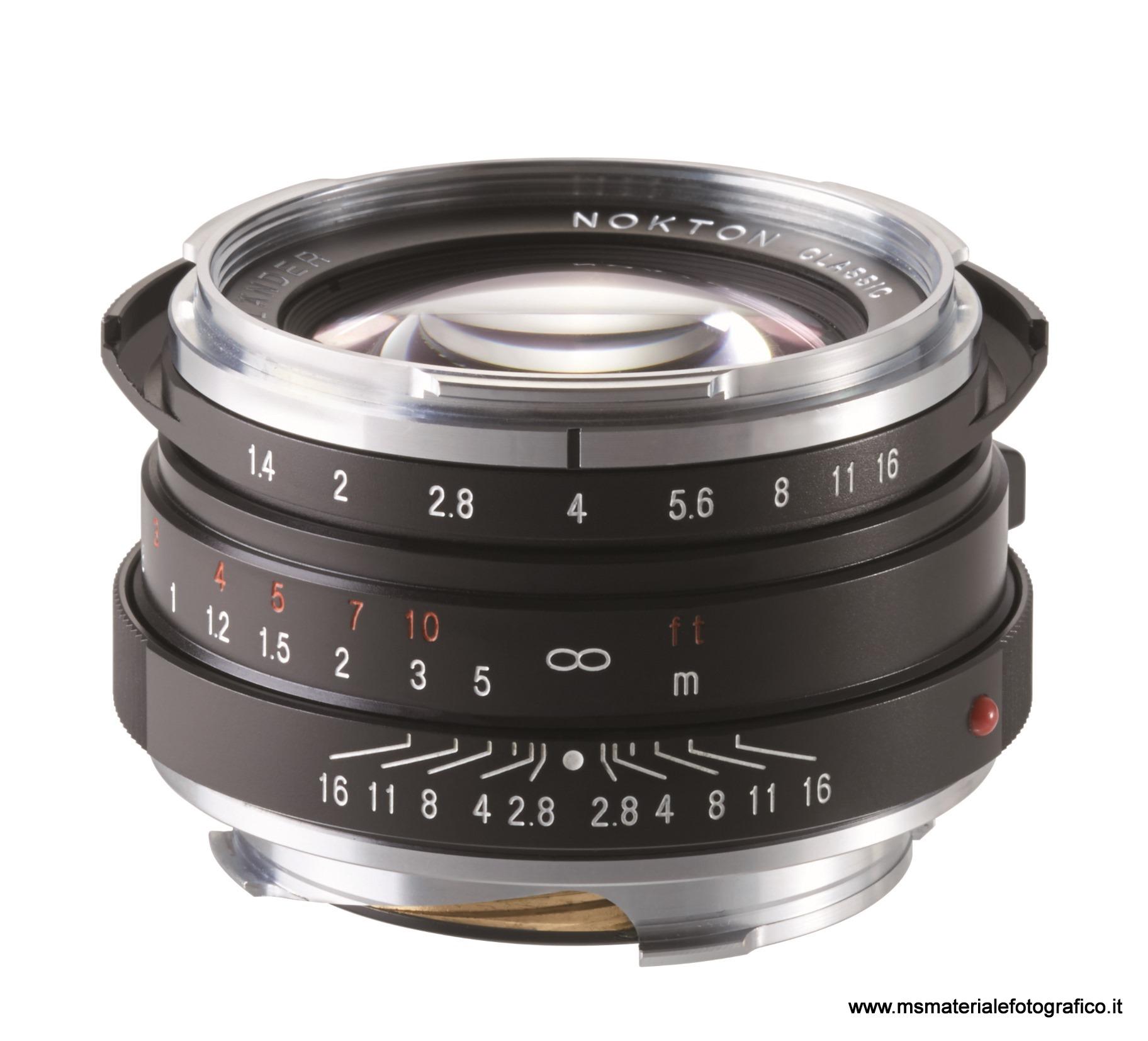 Obiettivo Voigtlander Nokton 40 mm/F1,4 (MC o SC)
