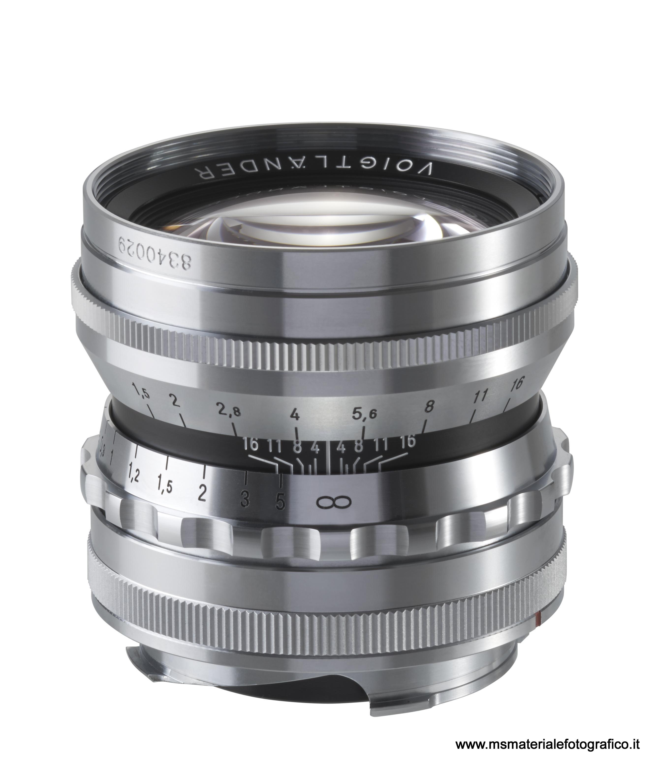 Obiettivo Voigtlander Nokton 50mm/F1,5 asph. cromato