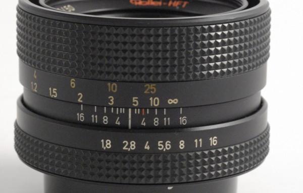 Obiettivo Rollei Planar 50mm f/1,8