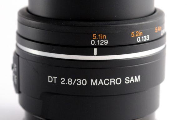 Obiettivo Sony Macro SAM 30mm f/2,8 DT per Sony A (aps-c)