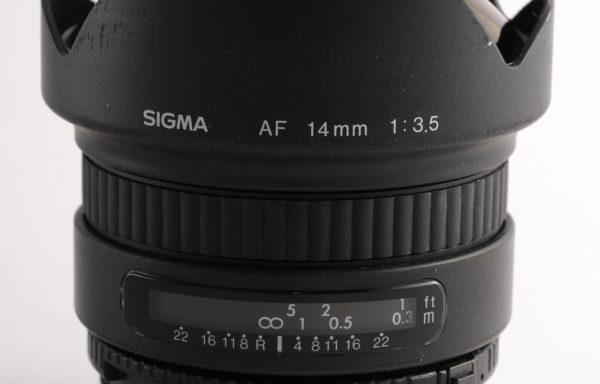 Obiettivo Sigma AF 14mm f/3,5 per Nikon