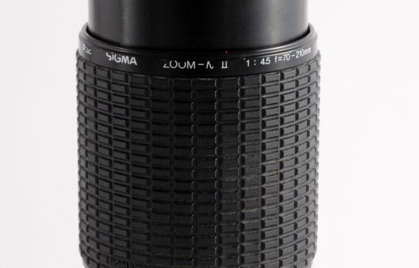 Obiettivo Sigma 70-210mm f/4,5 per Nikon (per parti)