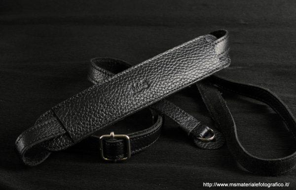 Tracolla regolabile in pelle M&S nera