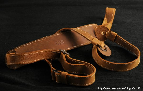 Tracolla regolabile in pelle M&S 1,6cm Suede
