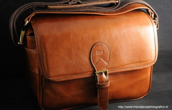 Borsa in pelle M&S Cognac