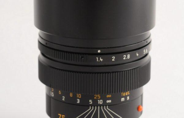Obiettivo Leica M Summilux 75mm f/1,4 BIT CODE (rare)