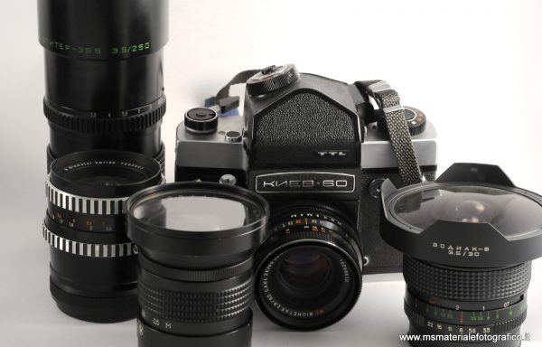 Kit Fotocamera Kiev 60 + Obiettivi (30mm , 45mm, 80mm, 120mm, 250mm)