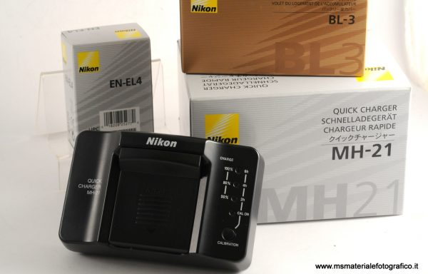 Nikon Caricatore battery charger MH-21 Kit + BL3 + EN-EL4