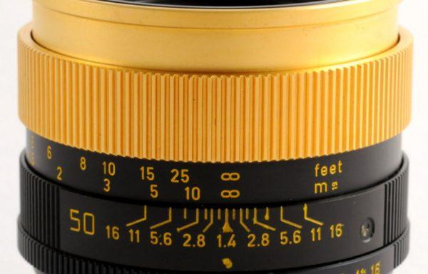 Obiettivo Leica R 50mm f/1,4 Summilux gold