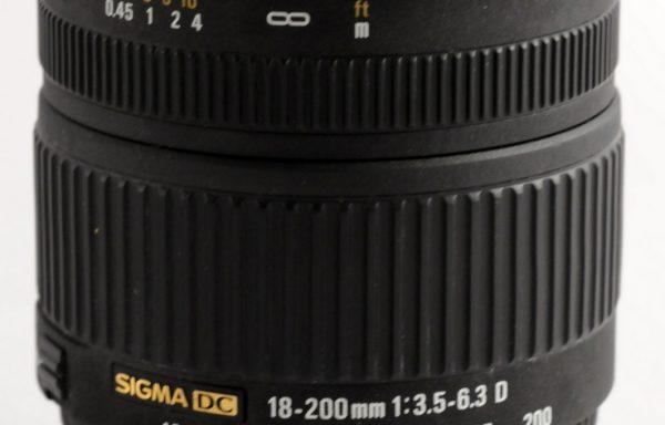 Obiettivo Sigma D 18-200mm f/3,5-6,3 per Nikon