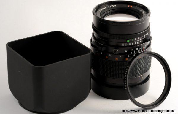 Obiettivo Hasselblad Sonnar 150mm f/4+filtro+paraluce+tappi+tubo di prolunga 16
