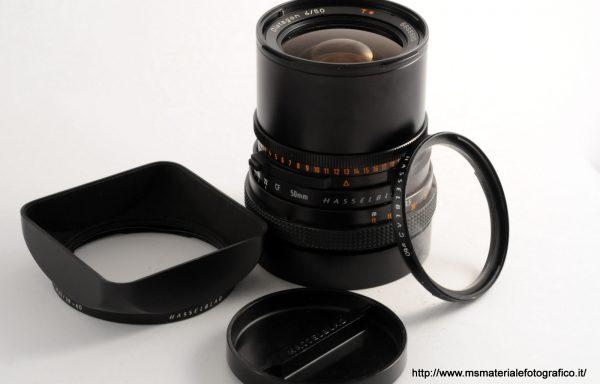 Obiettivo Hasselblad Distagon 50mm f/4+filtro+paraluce+tappi