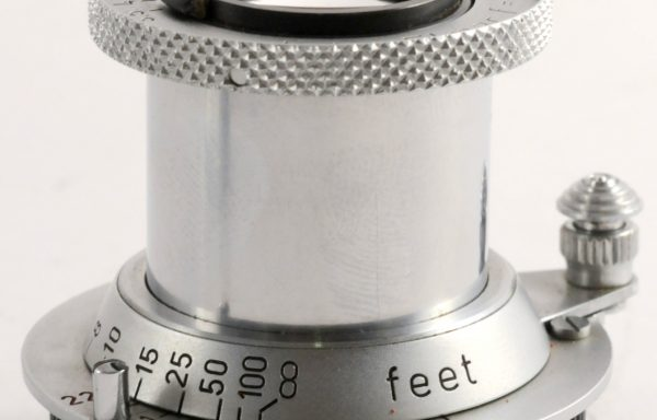 Obiettivo Leica Elmar 5cm f/3,5 in feet numeri rossi