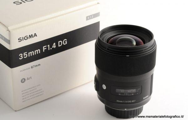 Obiettivo Sigma Art 35mm f/1,4 DG per Nikon
