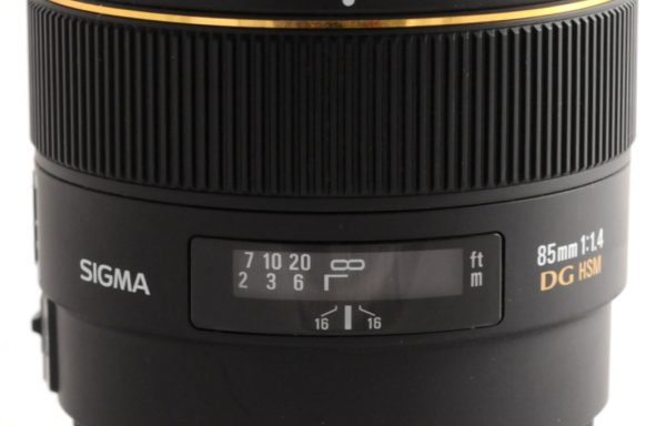 Obiettivo Sigma 85mm f/1,4 EX DG HSM per Canon