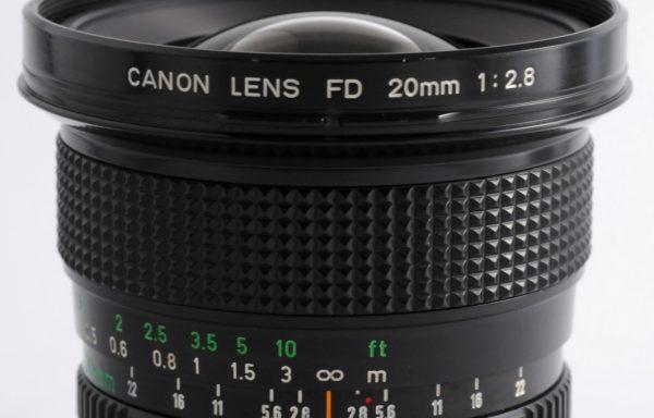 Obiettivo Canon FD 20mm f/2,8