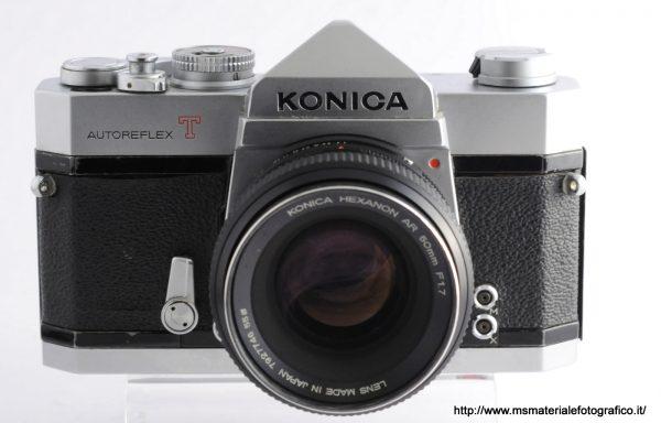 Kit Fotocamera Konica Autoreflex T + Obiettivo Konica Hexanon 50mm f/1,7