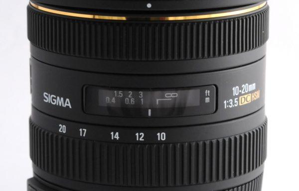 Obiettivo Sigma 10-20mm f/3,5 DC HSM per Nikon