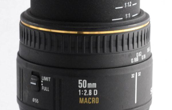 Obiettivo Sigma 50mm f/2,8 D Macro