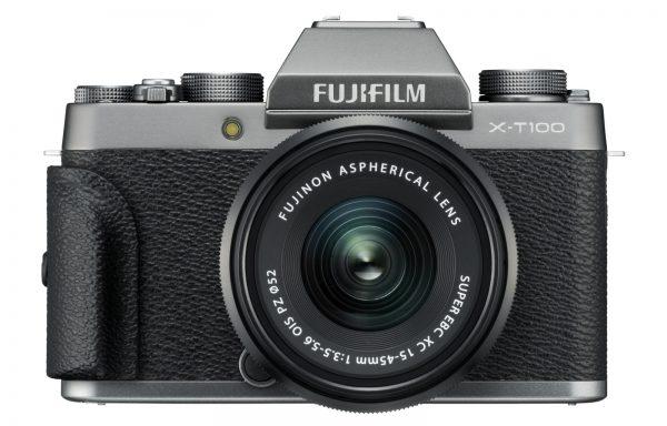 Doppio Kit Fotocamera Fujifilm X-T100+15-45mm f/3,5-5,6+50-230mm f/4,5-6,7 Dark Silver