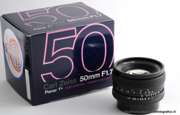 Obiettivo Contax Planar 50mm f/1,7
