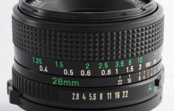 Obiettivo Canon FD 28mm f/2,8