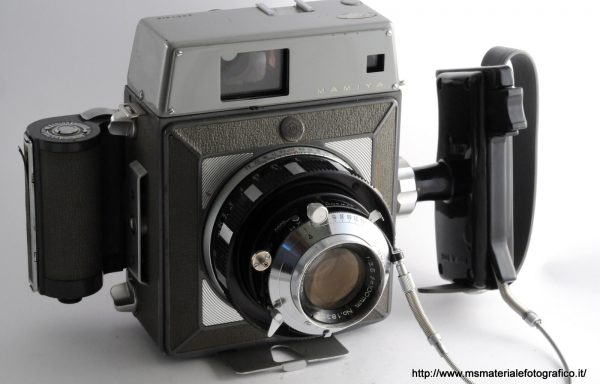 Kit Fotocamera Mamiya Press Universal + Obiettivo Mamiya Sekor 100mm f/3,5 + Magazzino