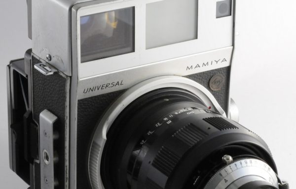 Kit Fotocamera Mamiya Press Universal + Obiettivo Mamiya Sekor 150mm f/5,6 + Magazzino