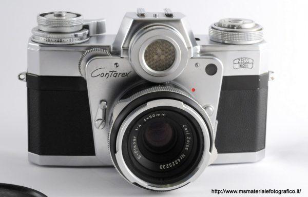 Kit Contarex Obiettivo Zeiss S-Planar 50mm f/4 + Corpo Ciclope in omaggio