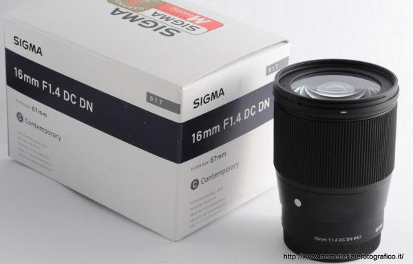 Obiettivo Sigma 16mm f/1,4 DC DN C E-Mount