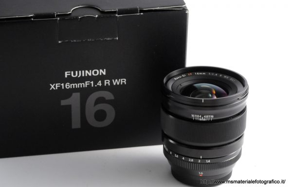 Obiettivo Fujifilm XF 16mm f/1,4 R WR