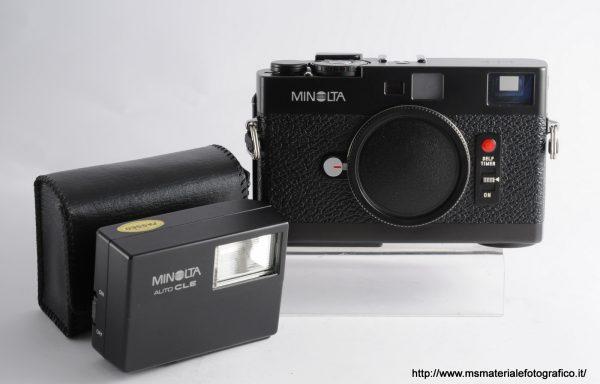 Fotocamera Minolta CLE + Flash Minolta auto CLE
