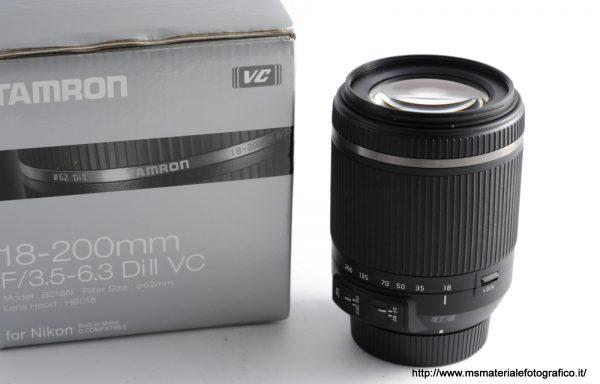 Obiettivo Tamron 18-200mm f/3,5-6,3 Di II VC