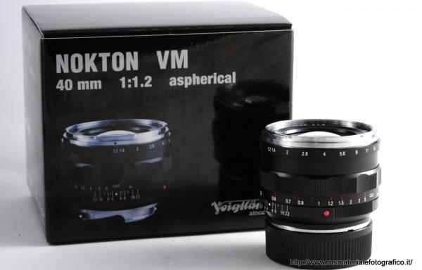 Obiettivo Voigtlander Nokton 40mm f/1,2 VM
