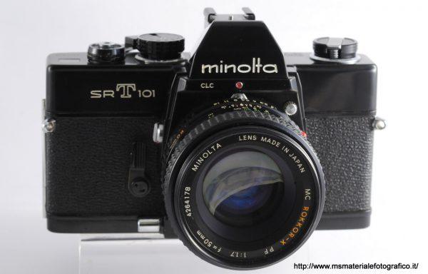 Kit Fotocamera Minolta SRT 101 Black + Obiettivo Minolta MC Rokkor-X PF 50mm f/1,7