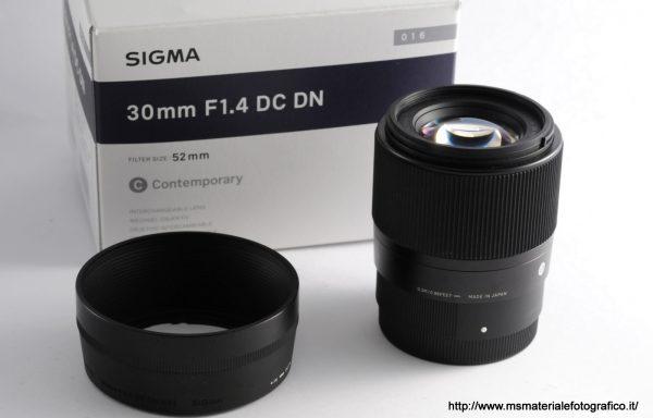 Obiettivo Sigma 30mm f/1,4 DC DN E-Mount APS-C