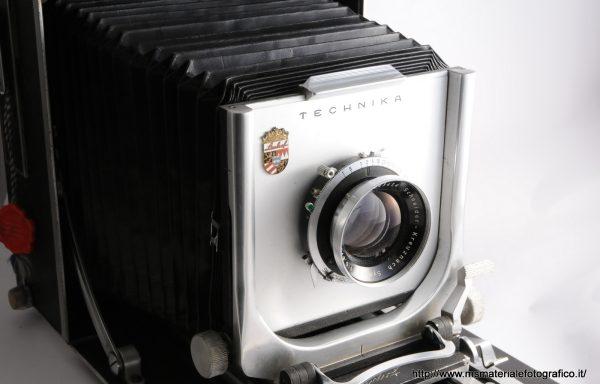 Fotocamera Linhof Technika 5×7 (13×18) + Obiettivo Symmar 180mm f/5,6 + Trasformazione 4×5 + Dorso 6×9