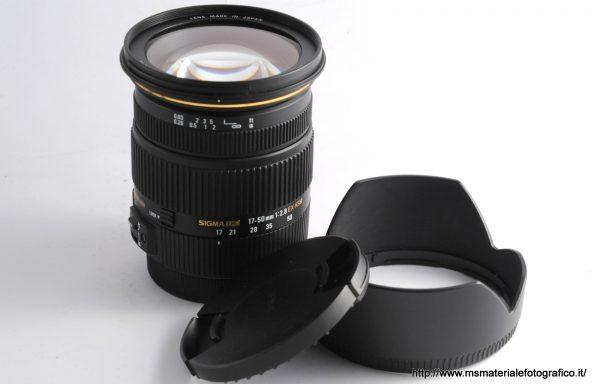 Obiettivo Sigma DC 17-50mm f/2,8 EX HSM per Canon