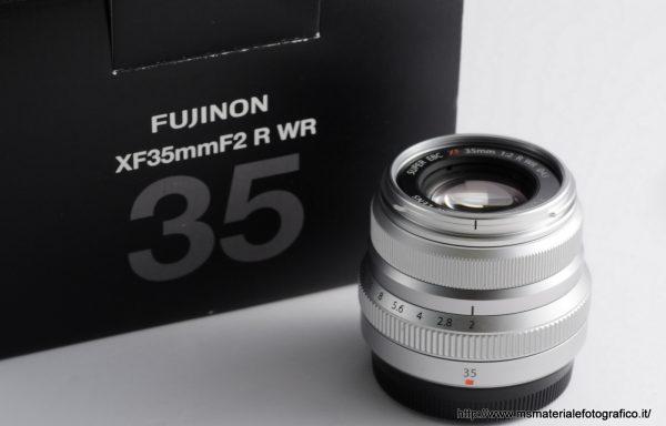 Obiettivo Fujifilm XF 35mm f/2 R WR Silver