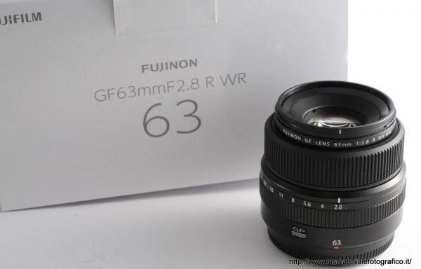 Obiettivo Fujifilm GF 63mm f/2,8 R WR