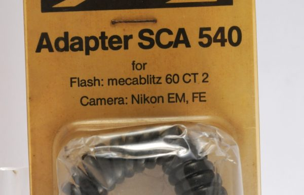Metz SCA 540 Adattatore Flash per Mecablitz 60 CT 2 per Nikon EM/FE/FE2/FA/FG