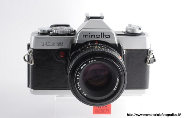 Kit Fotocamera Minolta XG 2 + Obiettivo Minolta MD 50mm f/1,7