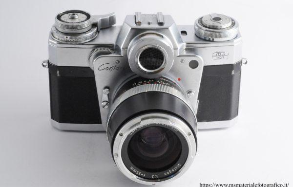 Kit Fotocamera Contarex + Obiettivo Carl Zeiss Distagon 35mm f/2
