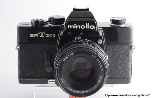 Kit Fotocamera Minolta SRT 303 + Obiettivo Minolta MD Rokkor 50mm f/1,7