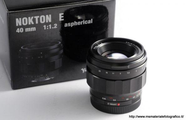Obiettivo Voigtlander Nokton E 40mm f/1,2