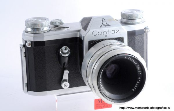 Kit Fotocamera Contax F + Obiettivo Carl Zeiss Jena Tessar 50mm f/2,8