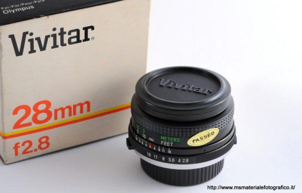 Obiettivo Vivitar MC 28mm f/2,8 per Olympus