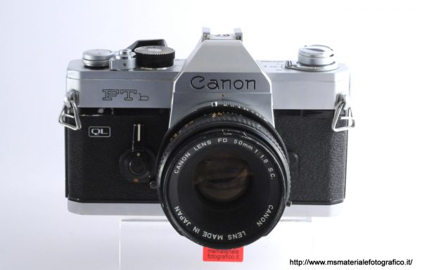 Kit Fotocamera Canon FTb + Obiettivo Canon FD 50mm f/1,8 S.C.