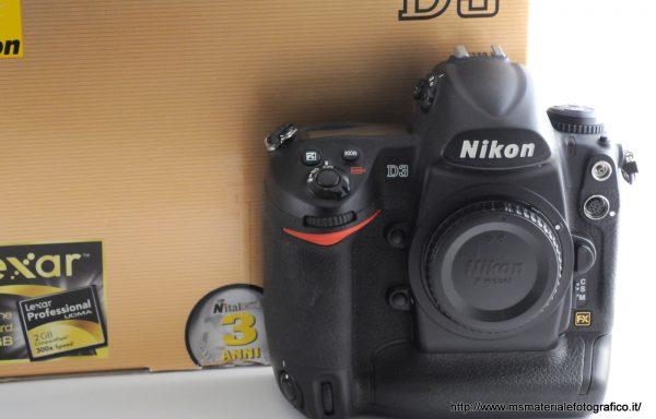 Fotocamera Nikon D3 (46200 scatti)