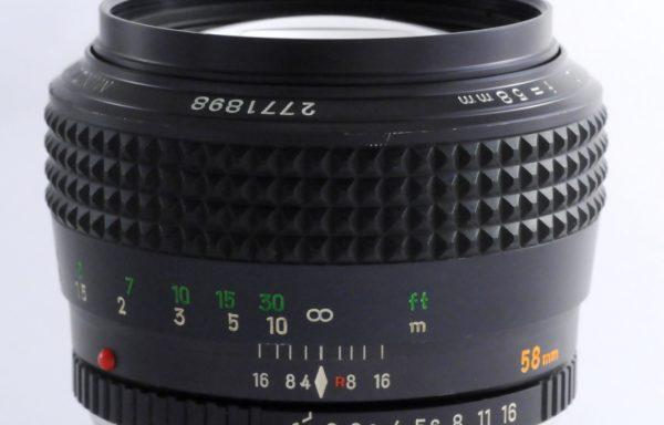 Obiettivo Minolta MC Rokkor 58mm f/1,2
